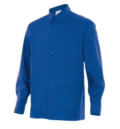 Velilla 529 Camisa Manga Larga Azulina