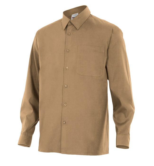 Velilla 529 Camisa Manga Larga Beige