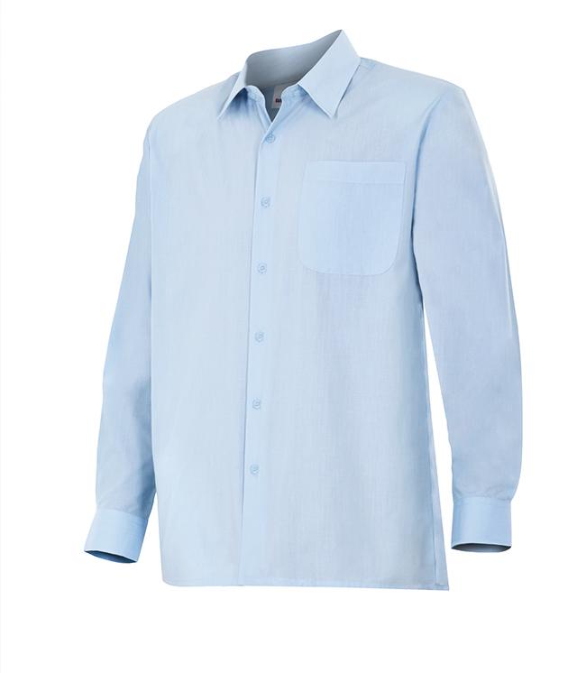 Velilla 529 Camisa Manga Larga Celeste