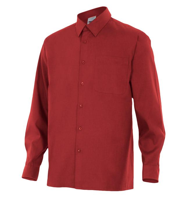 Velilla 529 Camisa Manga Larga Granate