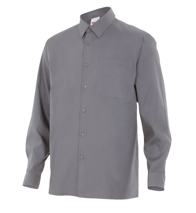 Velilla 529 Camisa Manga Larga Gris