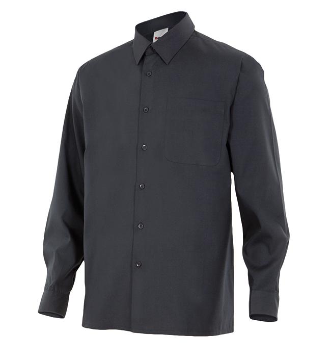 Velilla 529 Camisa Manga Larga Negro