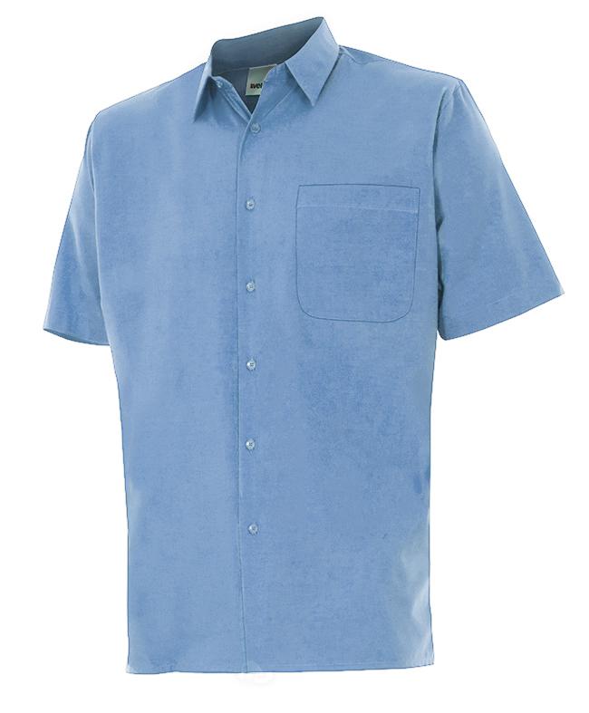 Velilla 531 Camisa Manga Corta Celeste