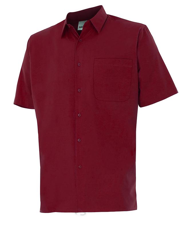 Velilla 531 Camisa Manga Corta Granate
