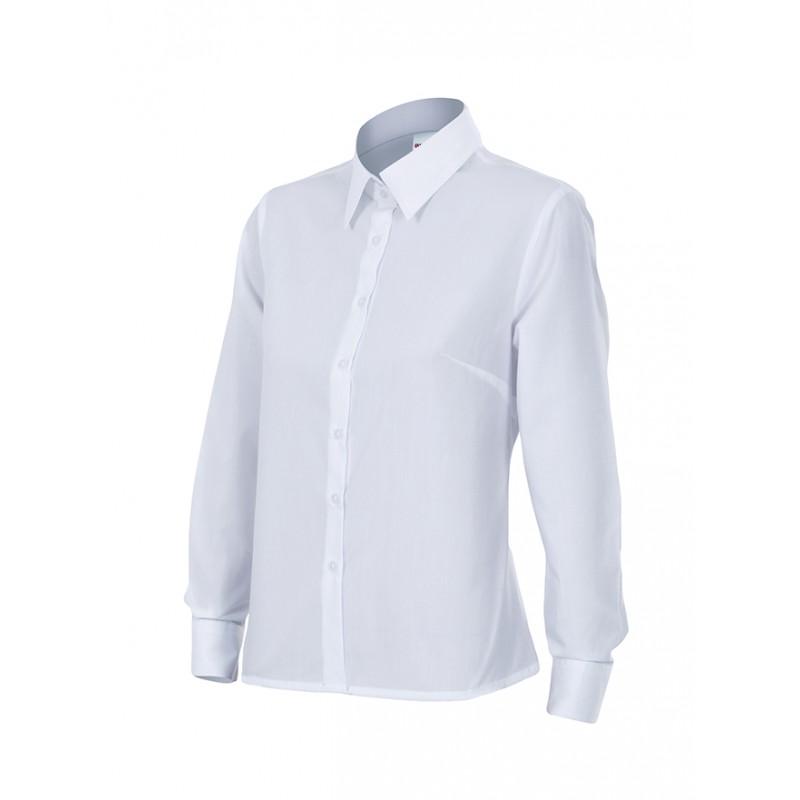 Velilla 539 Camisa Mujer Manga Larga Blanco