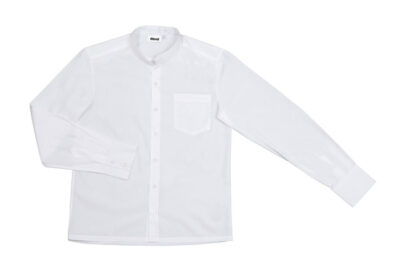 Velilla ListÁn Camisa Con Cuello Mao Hombre Blanco