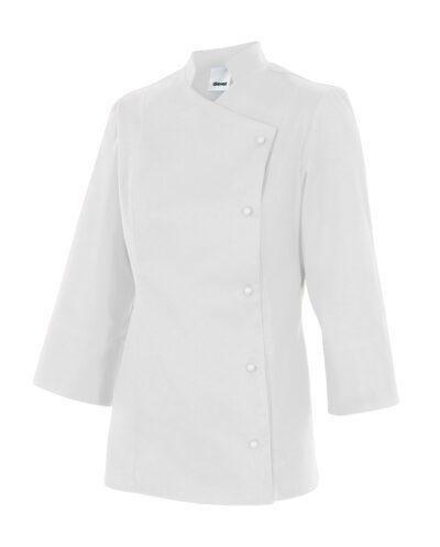 Velilla Melisa Chaqueta De Cocina Mujer Teflon Blanco