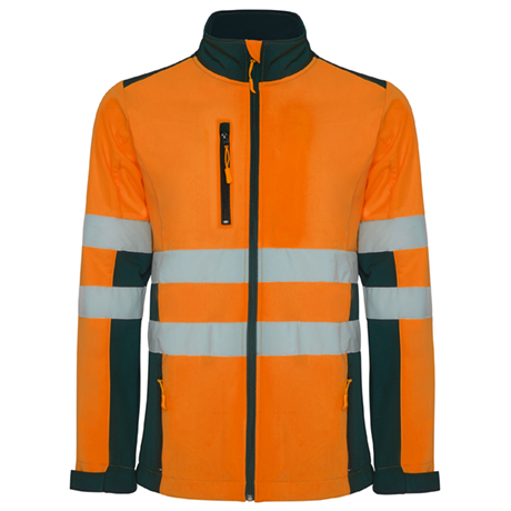 Roly Hv9303 Cazadora Soft Shell Bicolor Naranja