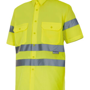 Velilla 141 Camisa Alta Visibilidad Manga Corta Amarillo