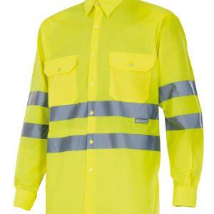 Velilla 143 Camisa Alta Visibilidad Manga Larga Amarillo