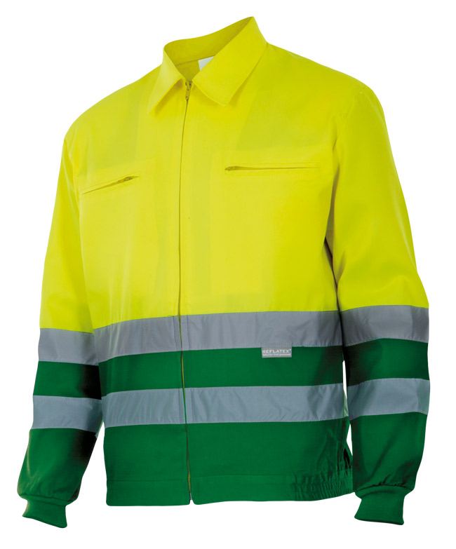 Velilla 153 Cazadora Bicolor Amarillo FlÚor Verde Hierba
