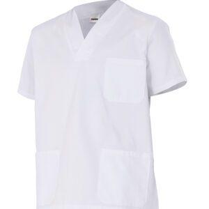 Velilla 587 Camisola Pijama Manga Corta Blanco