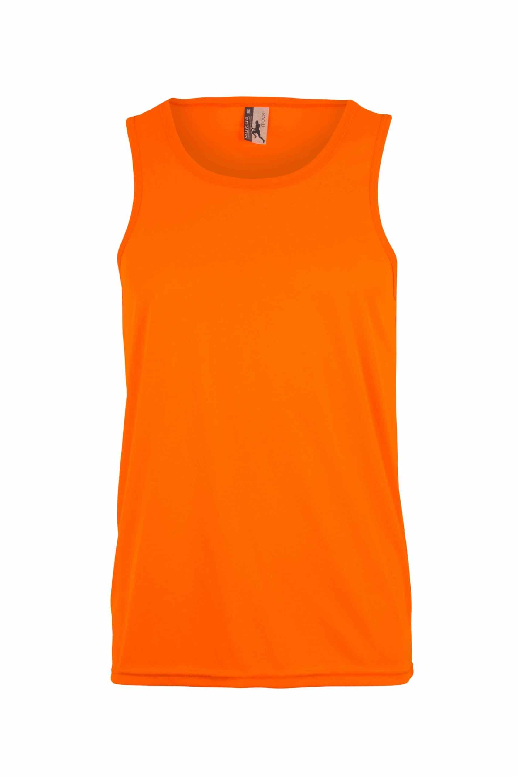 Mukua Mk525v Camiseta TÉcnica Tirantes FlÚor Orange