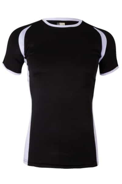 Mukua Mk530v Mukua Camiseta TÉcnica Manga Corta Bicolor Black White 1