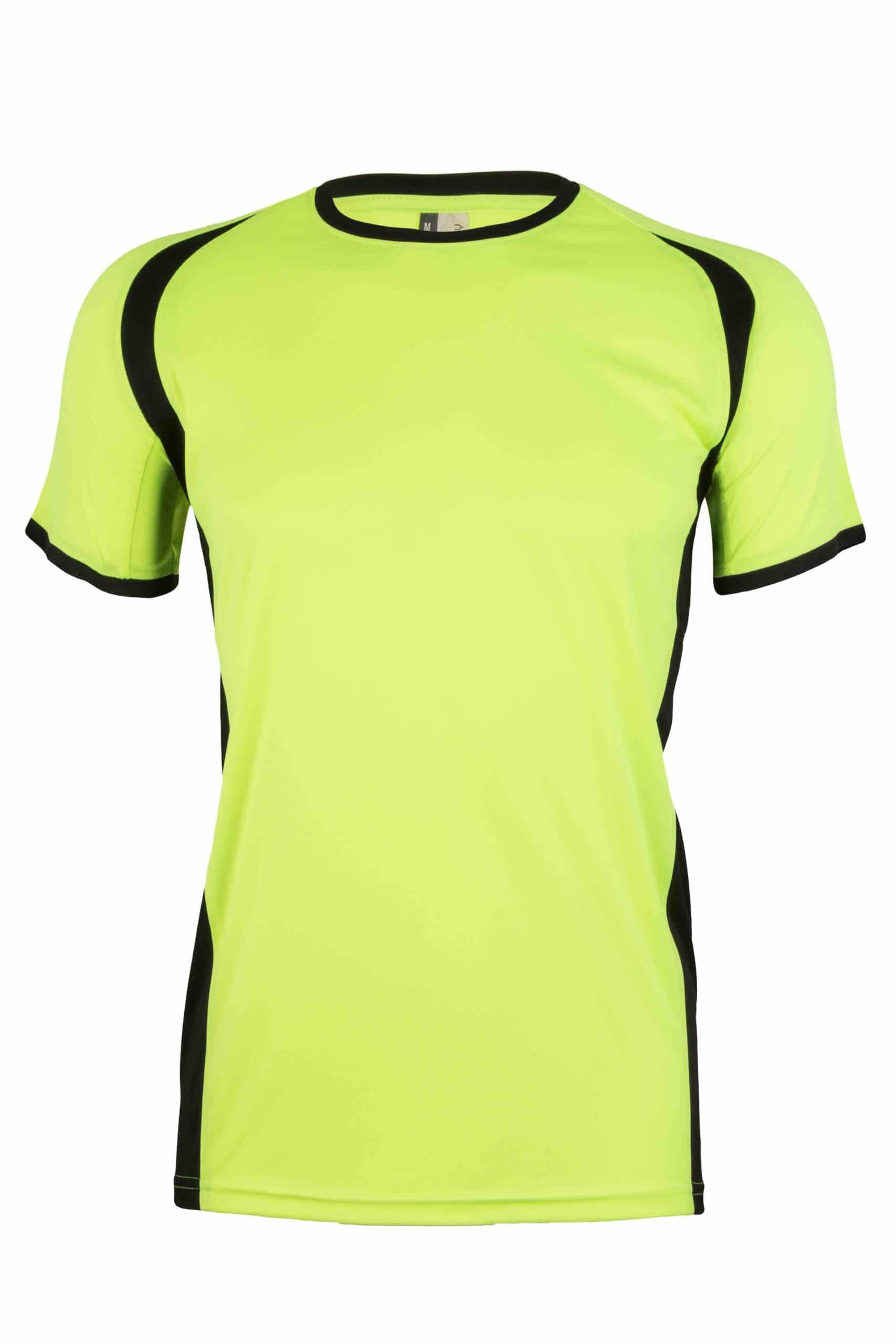 Mukua Mk530v Mukua Camiseta TÉcnica Manga Corta Bicolor FlÚor Yellow Blak 1