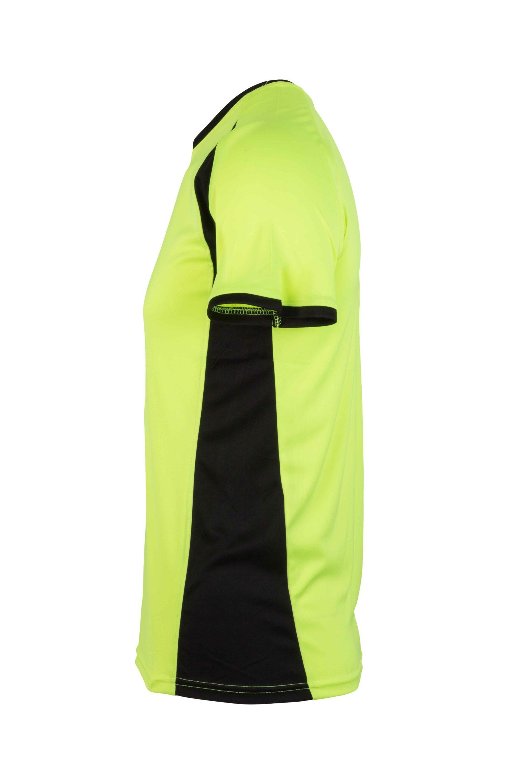 Mukua Mk530v Mukua Camiseta TÉcnica Manga Corta Bicolor FlÚor Yellow Blak 3