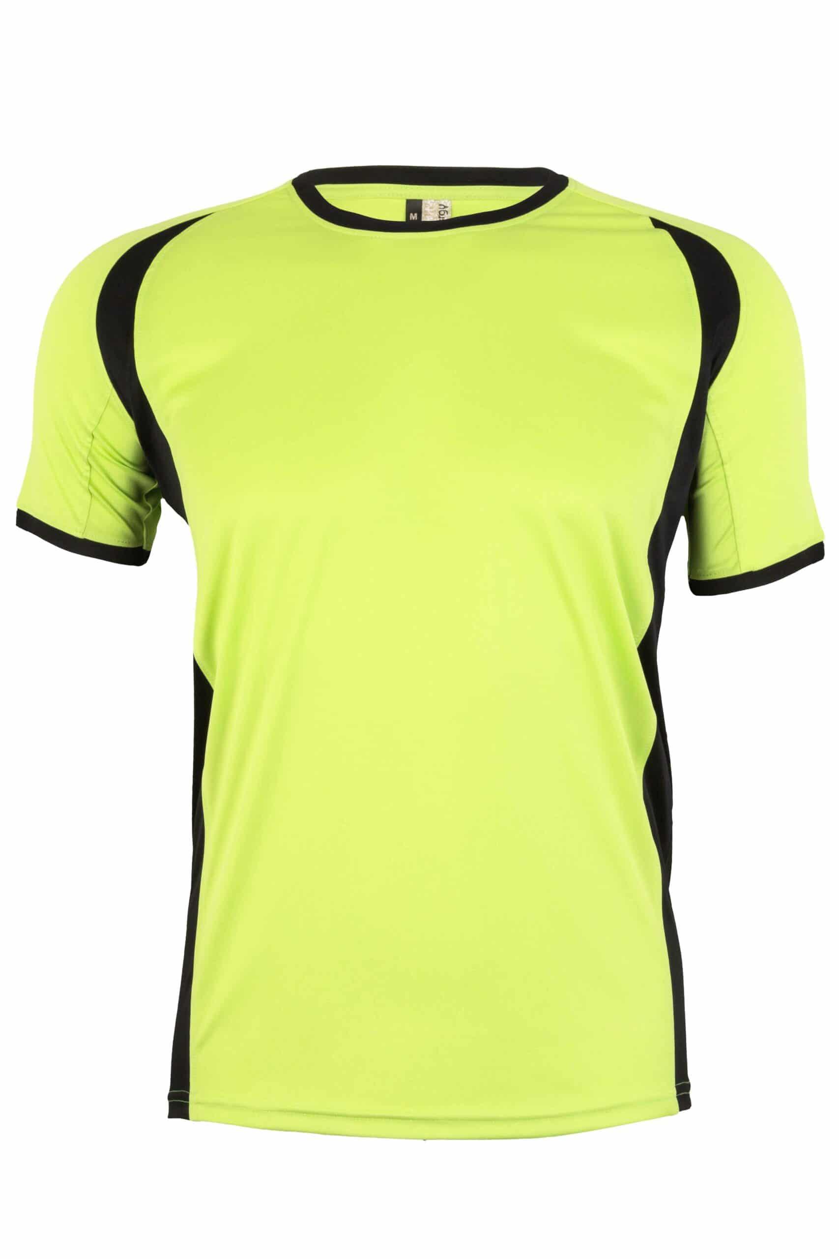 Mukua Mk530v Mukua Camiseta TÉcnica Manga Corta Bicolor Lime Blak 1