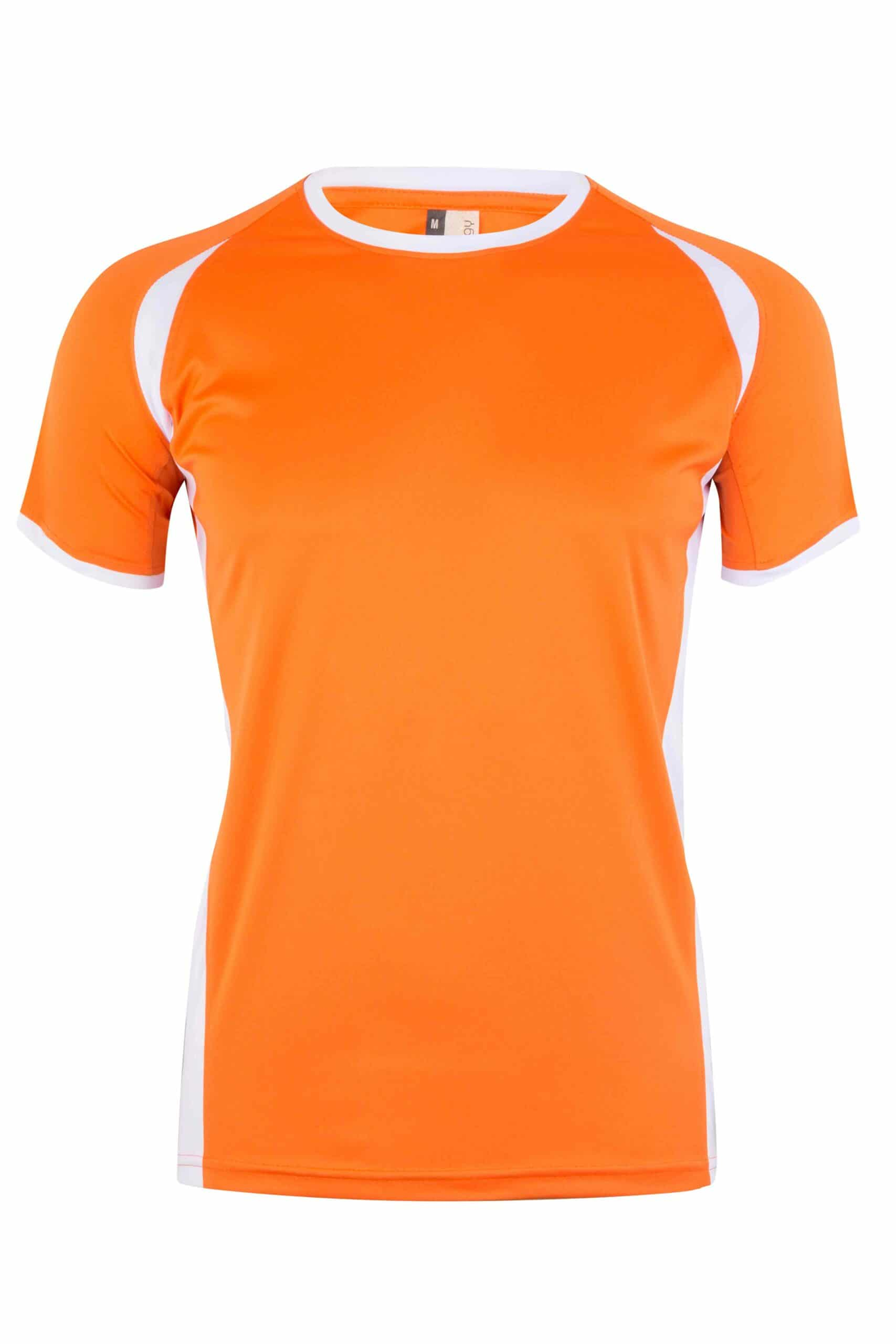 Mukua Mk530v Mukua Camiseta TÉcnica Manga Corta Bicolor Orange White 1