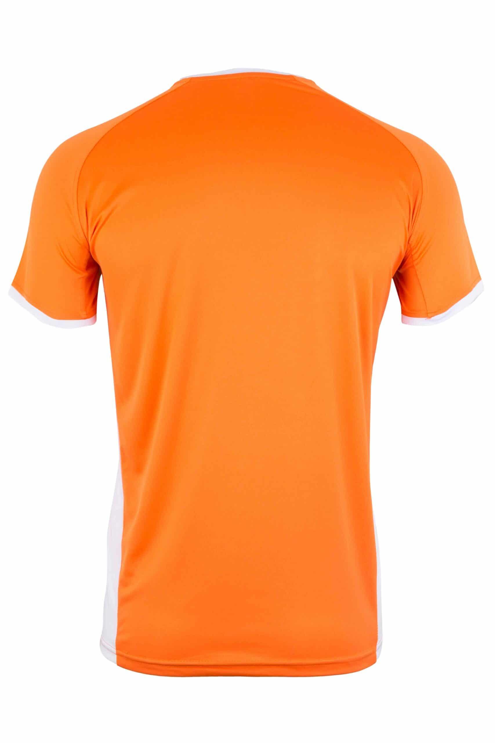 Mukua Mk530v Mukua Camiseta TÉcnica Manga Corta Bicolor Orange White 2