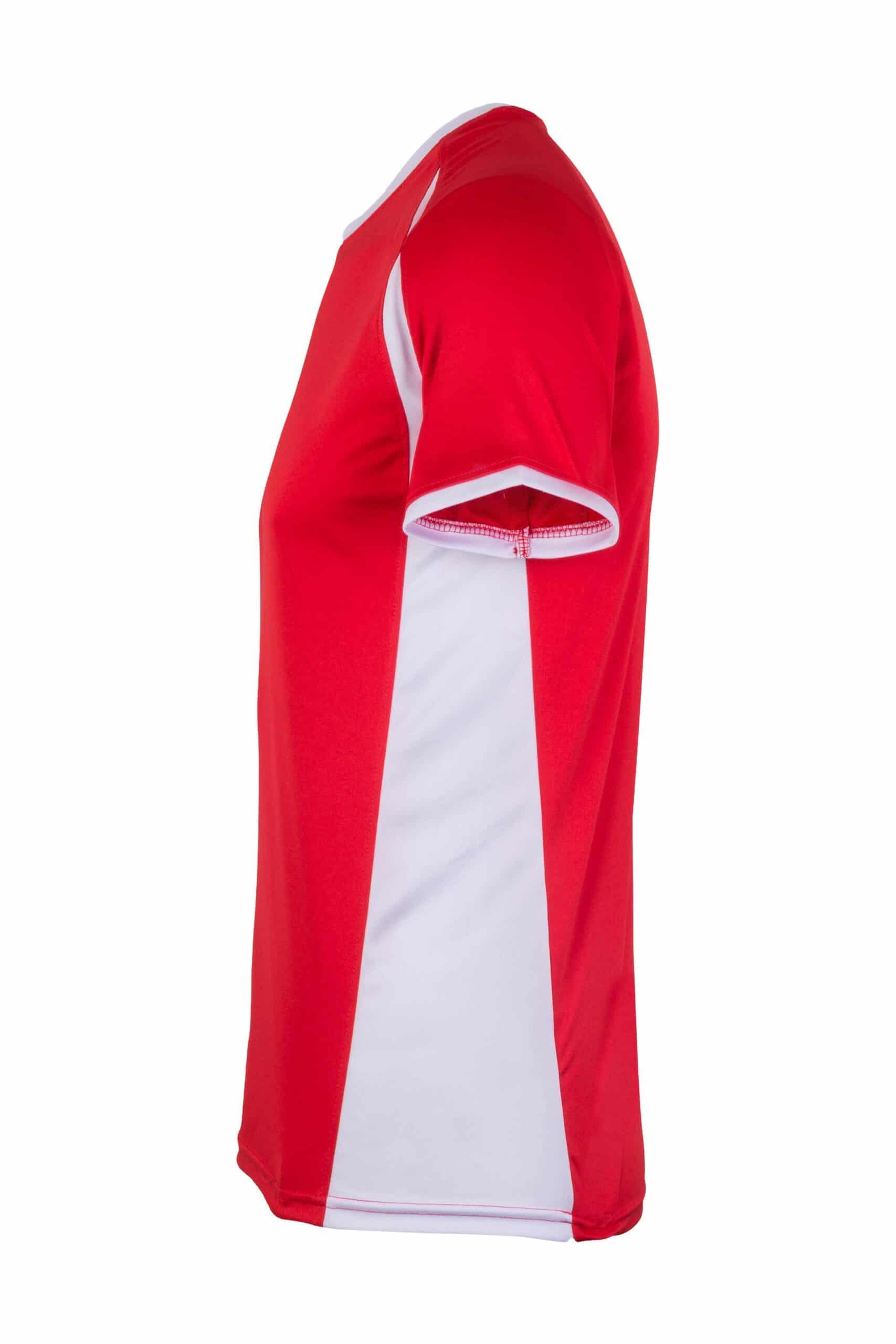 Mukua Mk530v Mukua Camiseta TÉcnica Manga Corta Bicolor Red White 3
