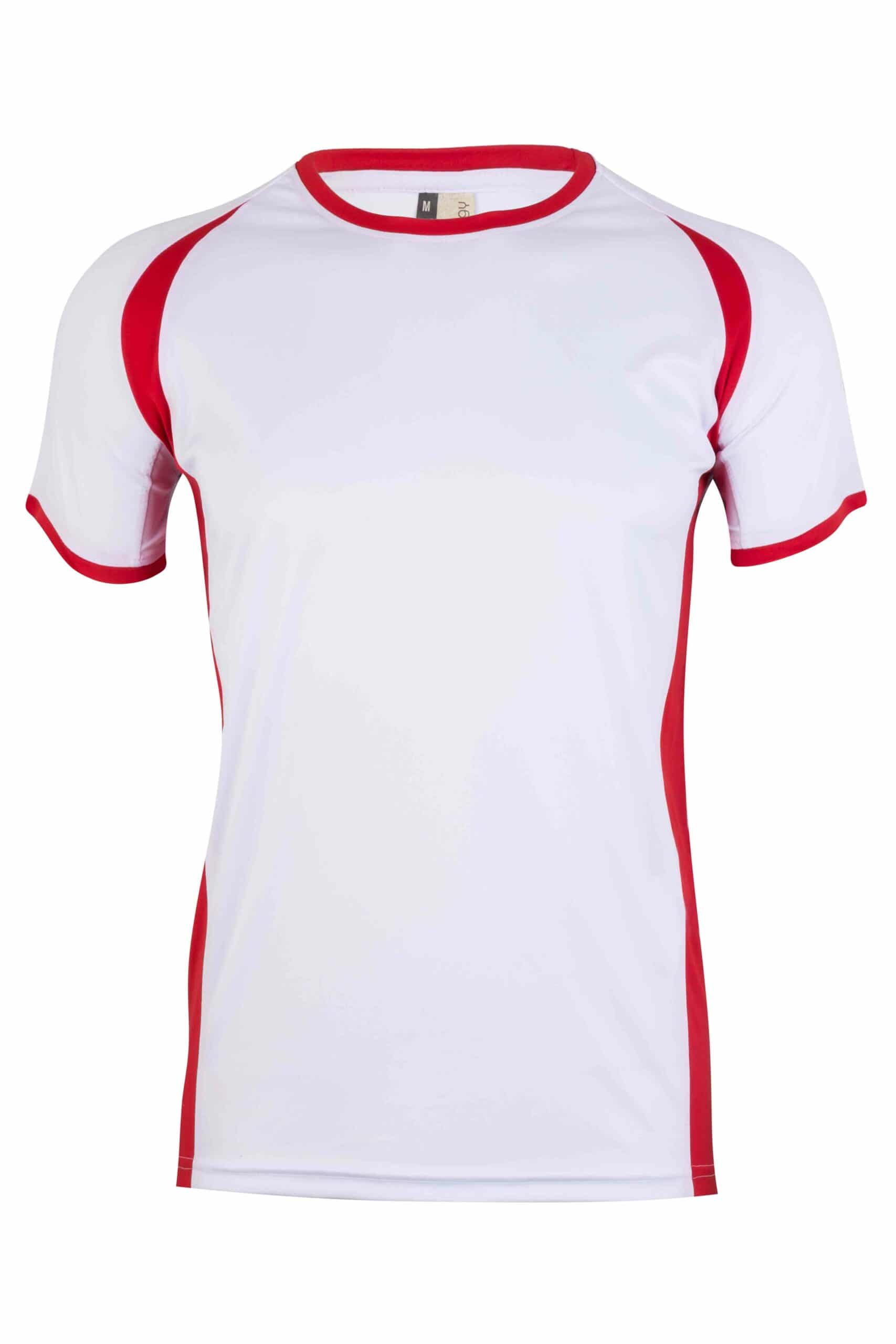 Mukua Mk530v Mukua Camiseta TÉcnica Manga Corta Bicolor White Red 1