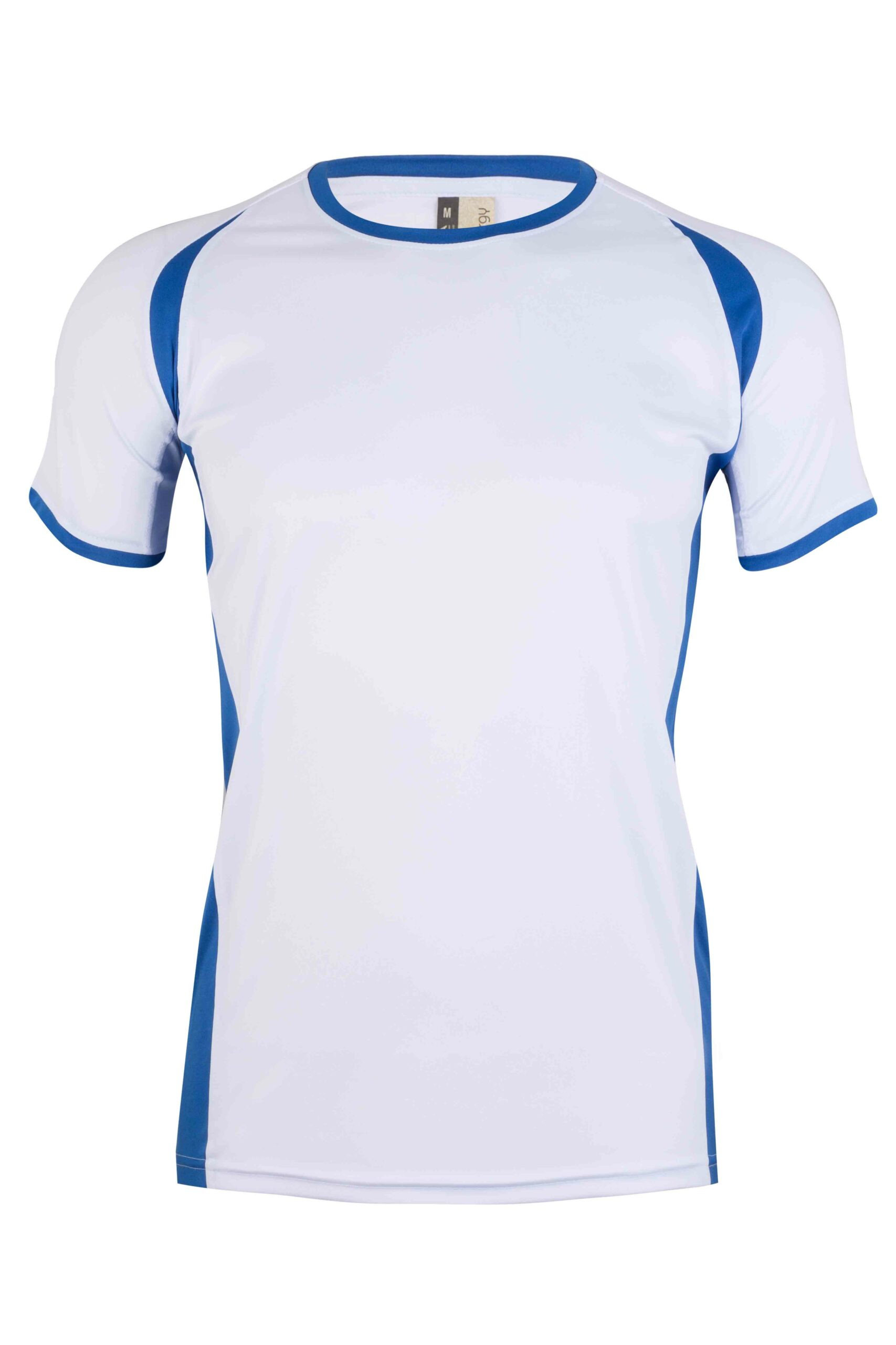 Mukua Mk530v Mukua Camiseta TÉcnica Manga Corta Bicolor White Royal Blue 1