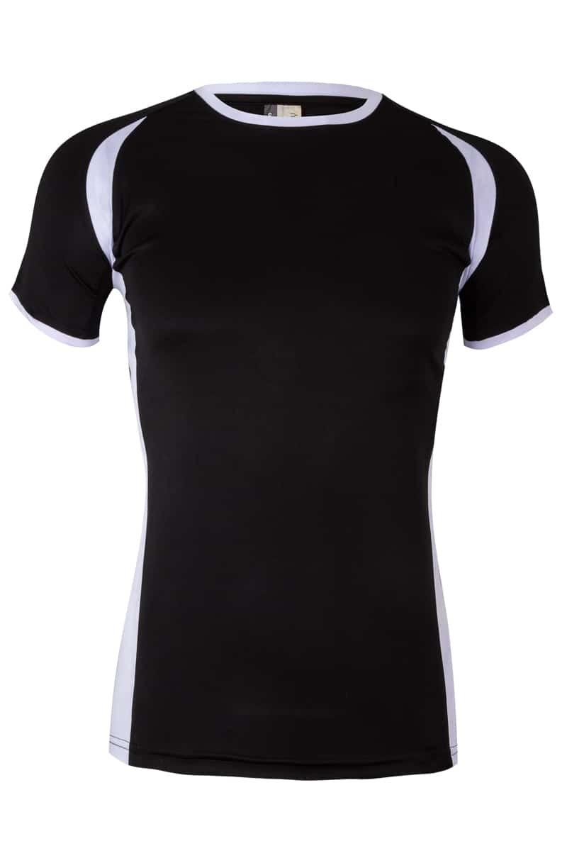 Mukua Mk531v Camiseta TÉcnica Manga Corta Bicolor NiÑo Black 1