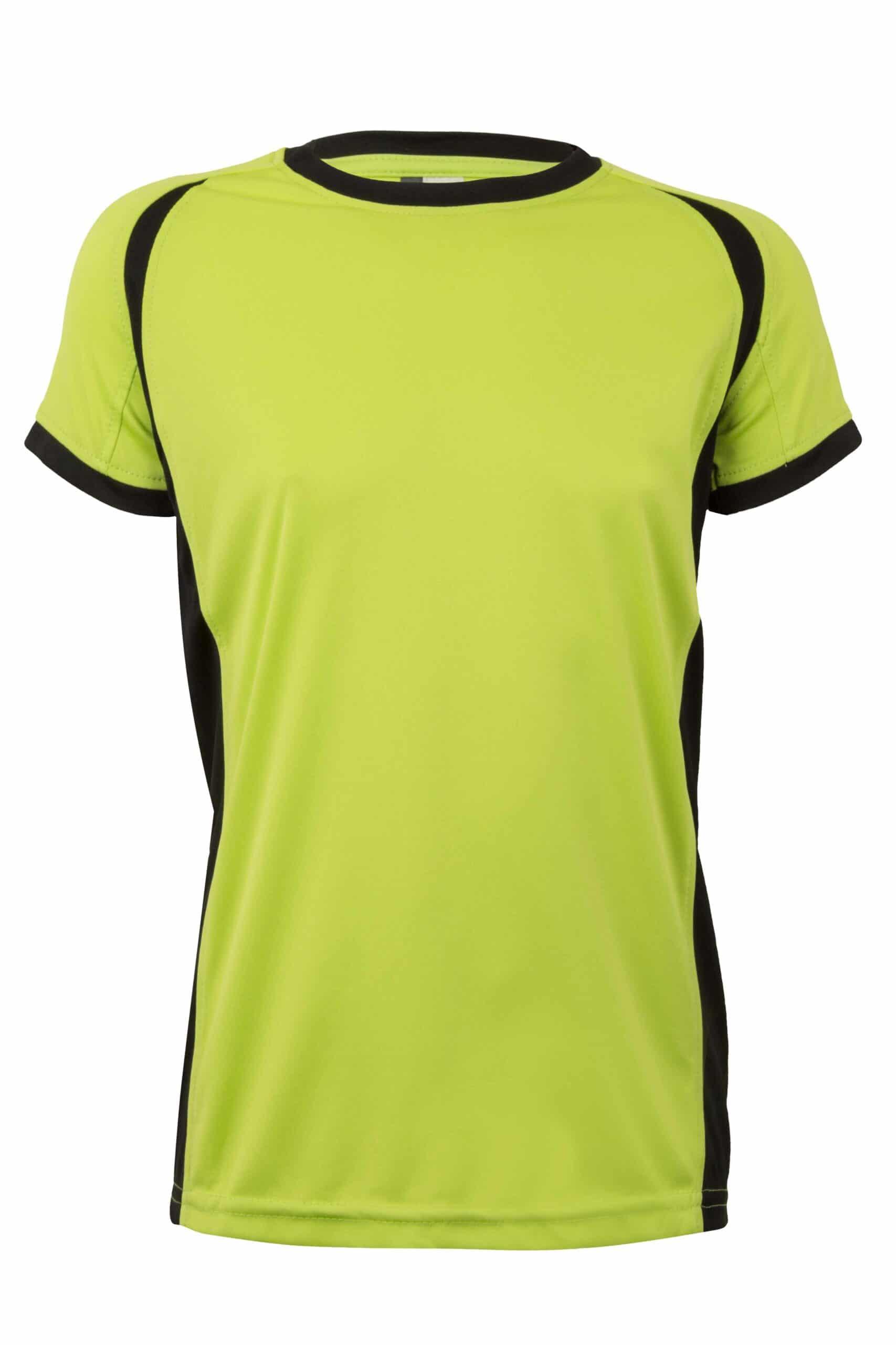 Mukua Mk531v Camiseta TÉcnica Manga Corta Bicolor NiÑo FlÚor Yellow Black 1