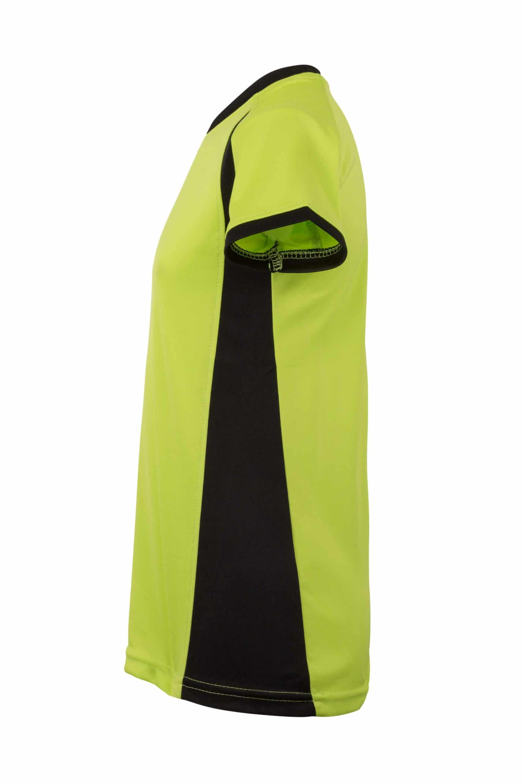 Mukua Mk531v Camiseta TÉcnica Manga Corta Bicolor NiÑo FlÚor Yellow Black 3