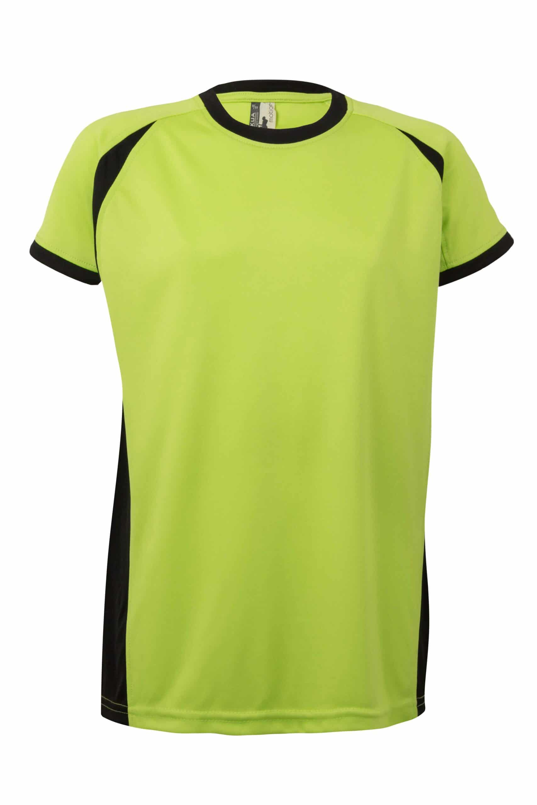 Mukua Mk531v Camiseta TÉcnica Manga Corta Bicolor NiÑo Lime Black 1