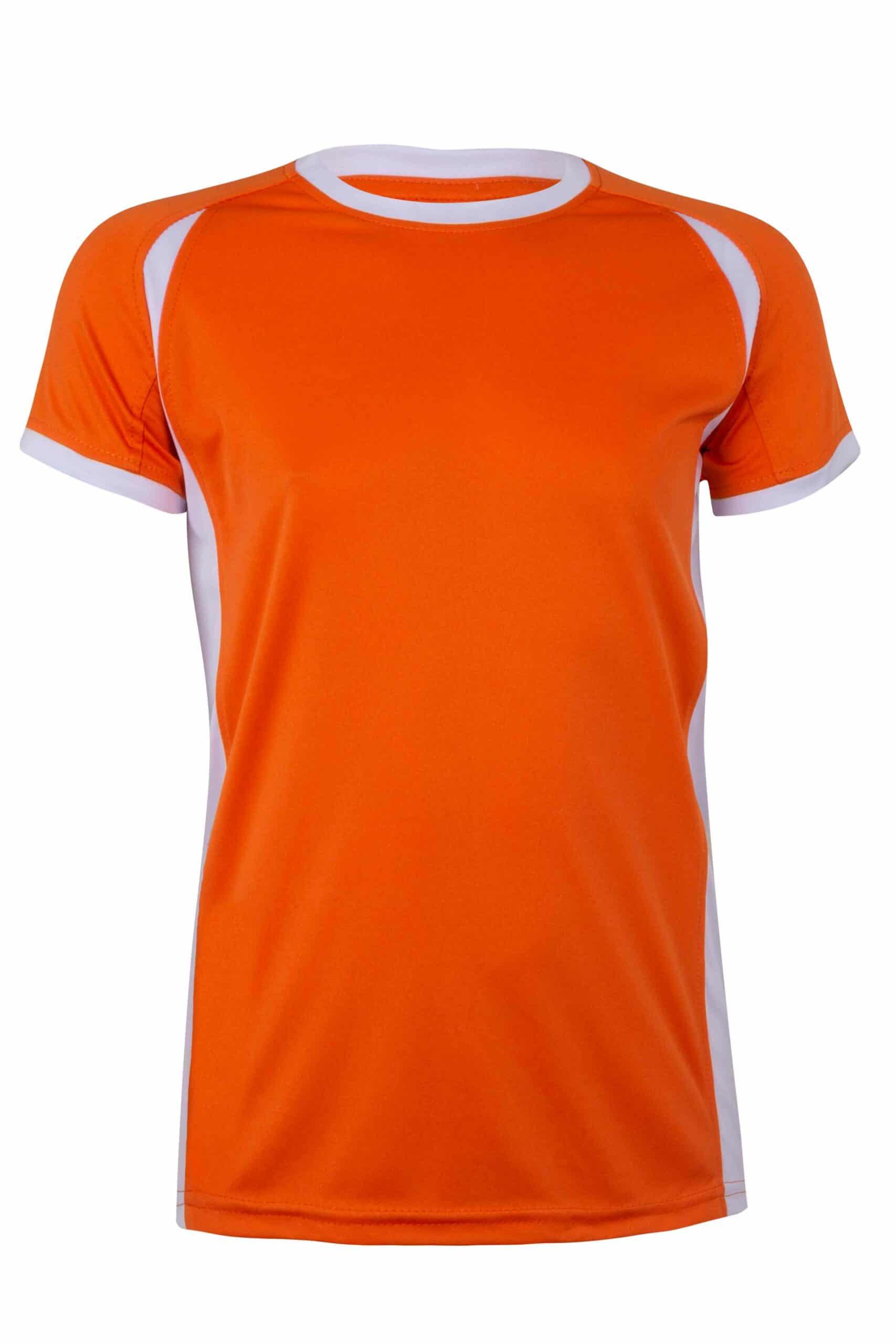 Mukua Mk531v Camiseta TÉcnica Manga Corta Bicolor NiÑo Orange White 1