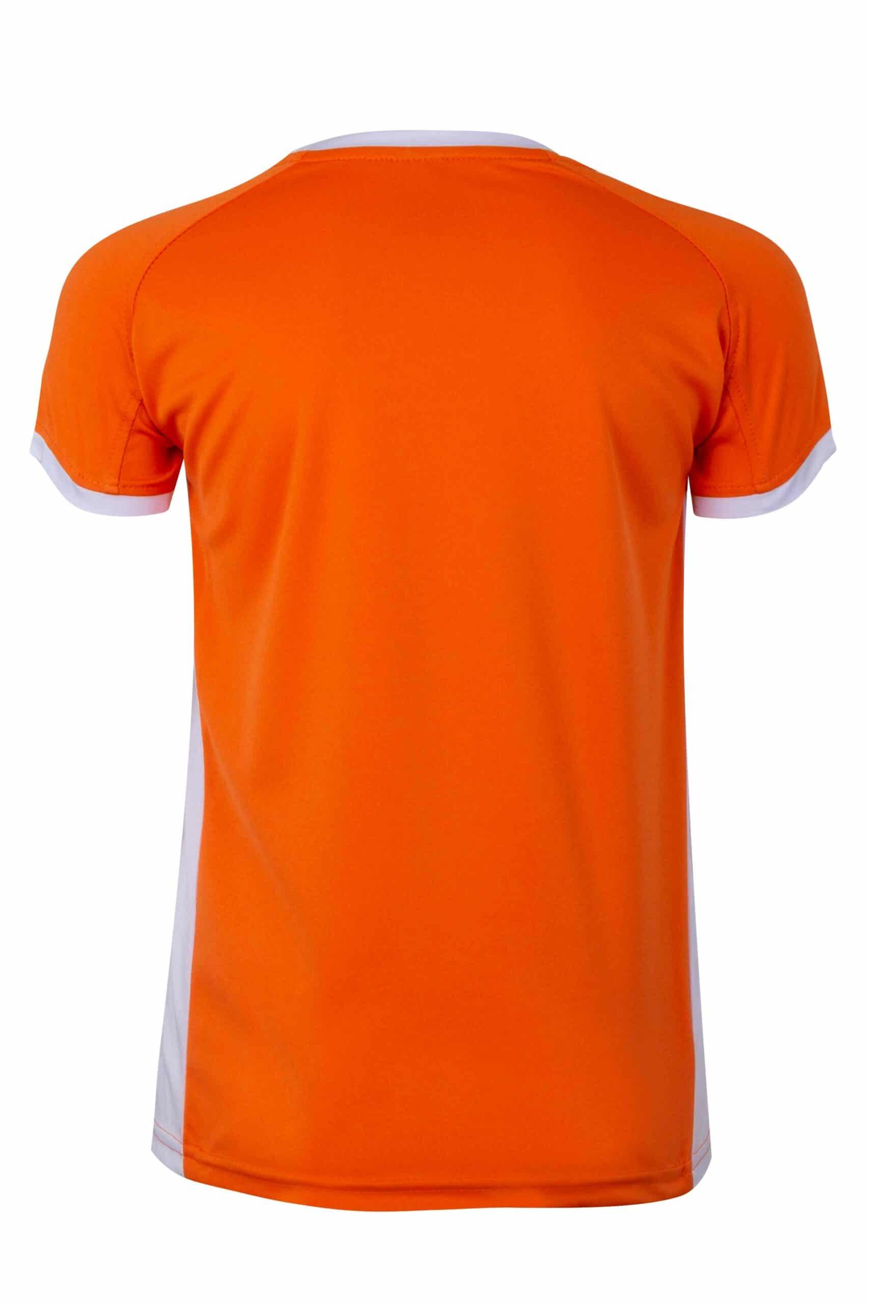 Mukua Mk531v Camiseta TÉcnica Manga Corta Bicolor NiÑo Orange White 2