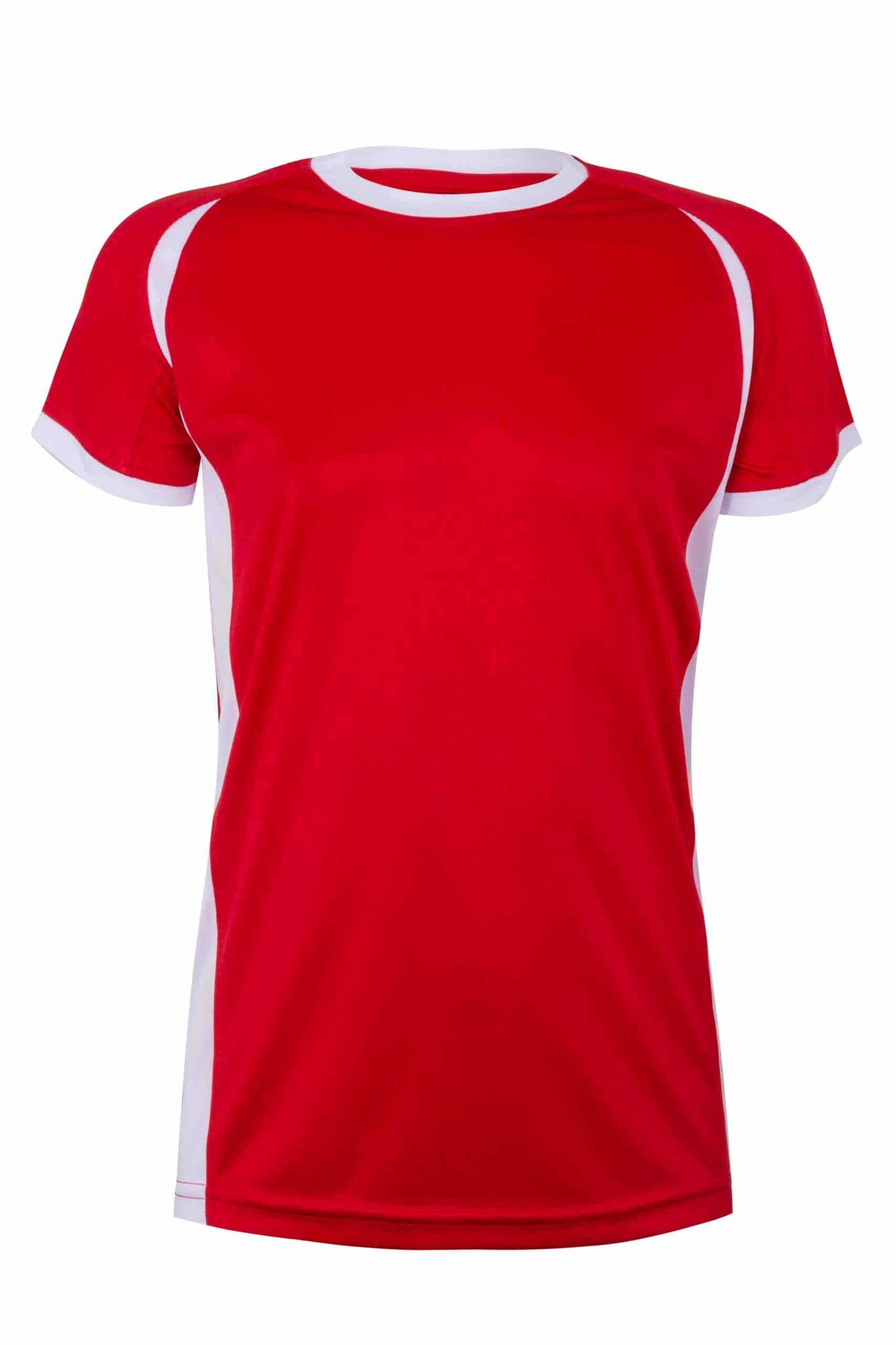 Mukua Mk531v Camiseta TÉcnica Manga Corta Bicolor NiÑo Red White 1