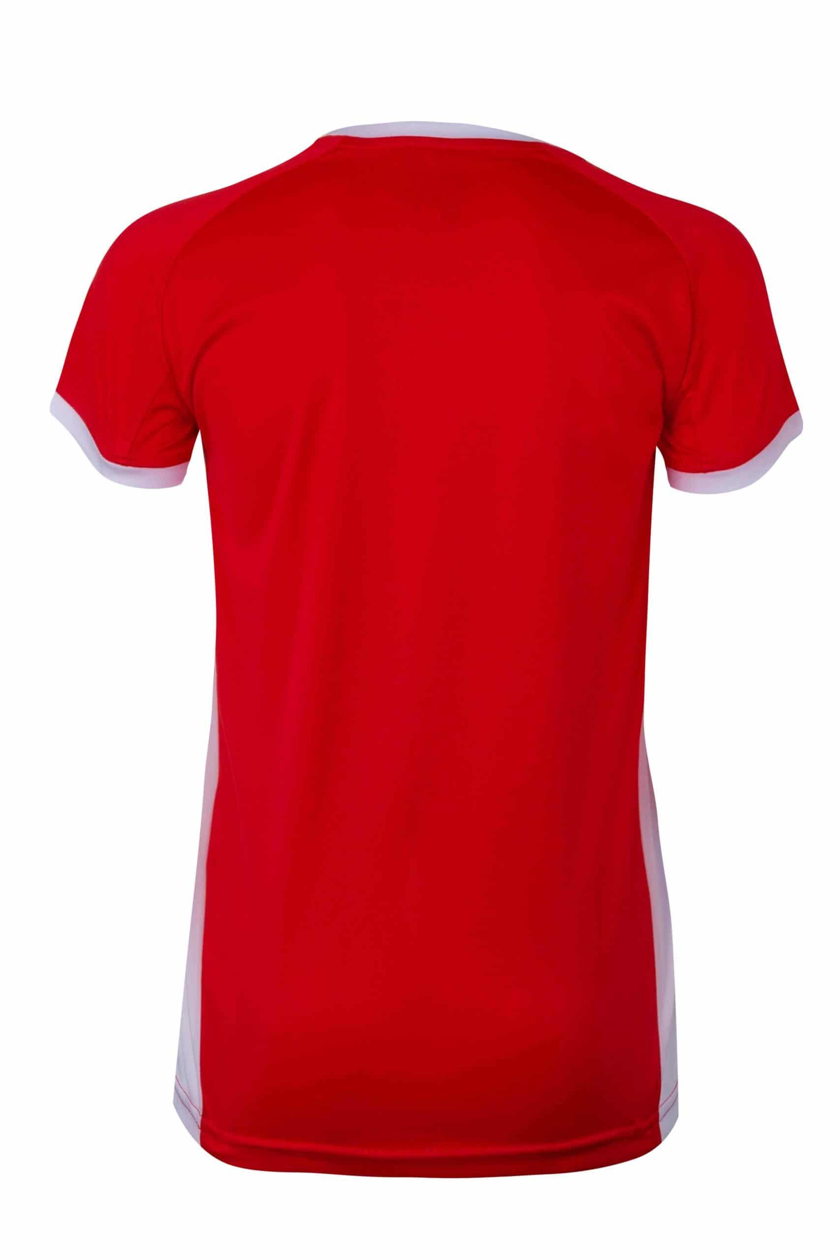 Mukua Mk531v Camiseta TÉcnica Manga Corta Bicolor NiÑo Red White 2