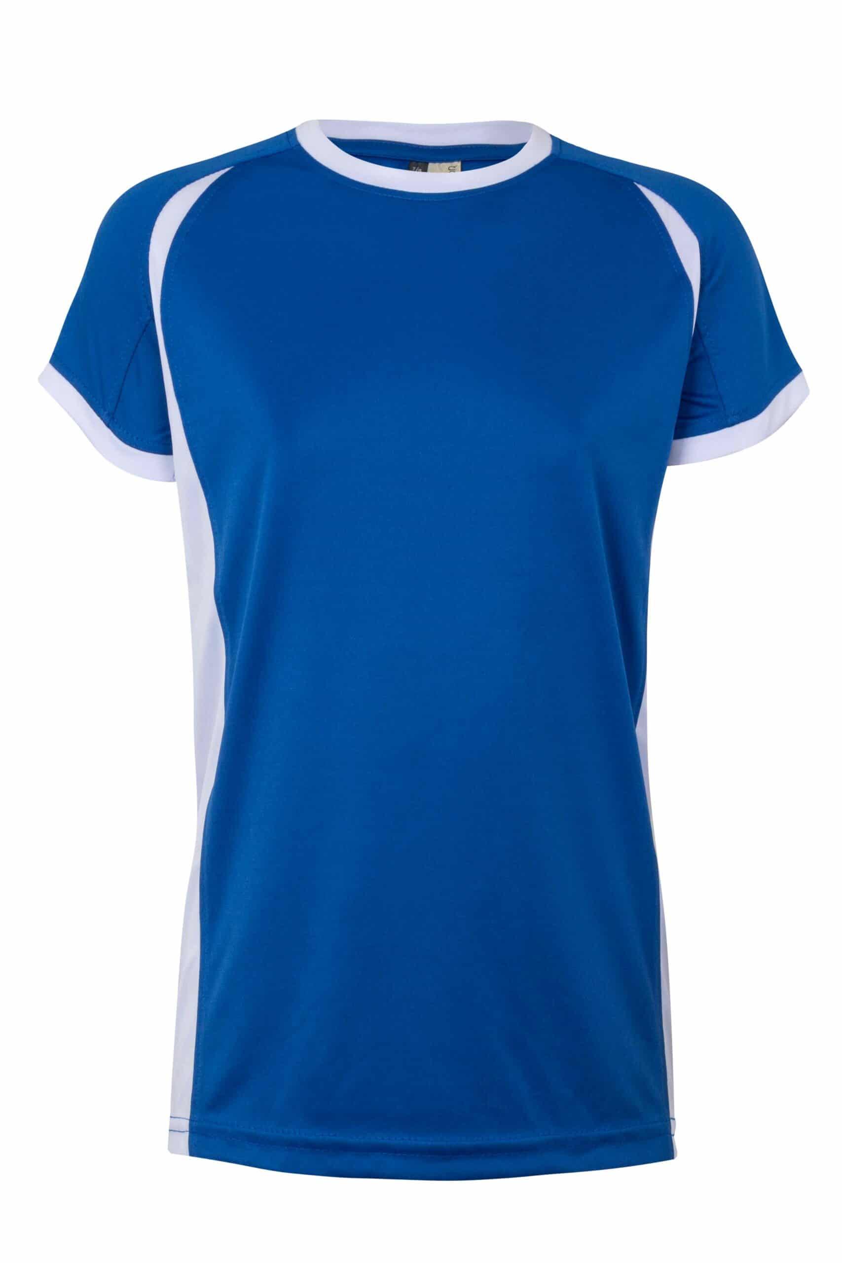 Mukua Mk531v Camiseta TÉcnica Manga Corta Bicolor NiÑo Royal Blue White 1
