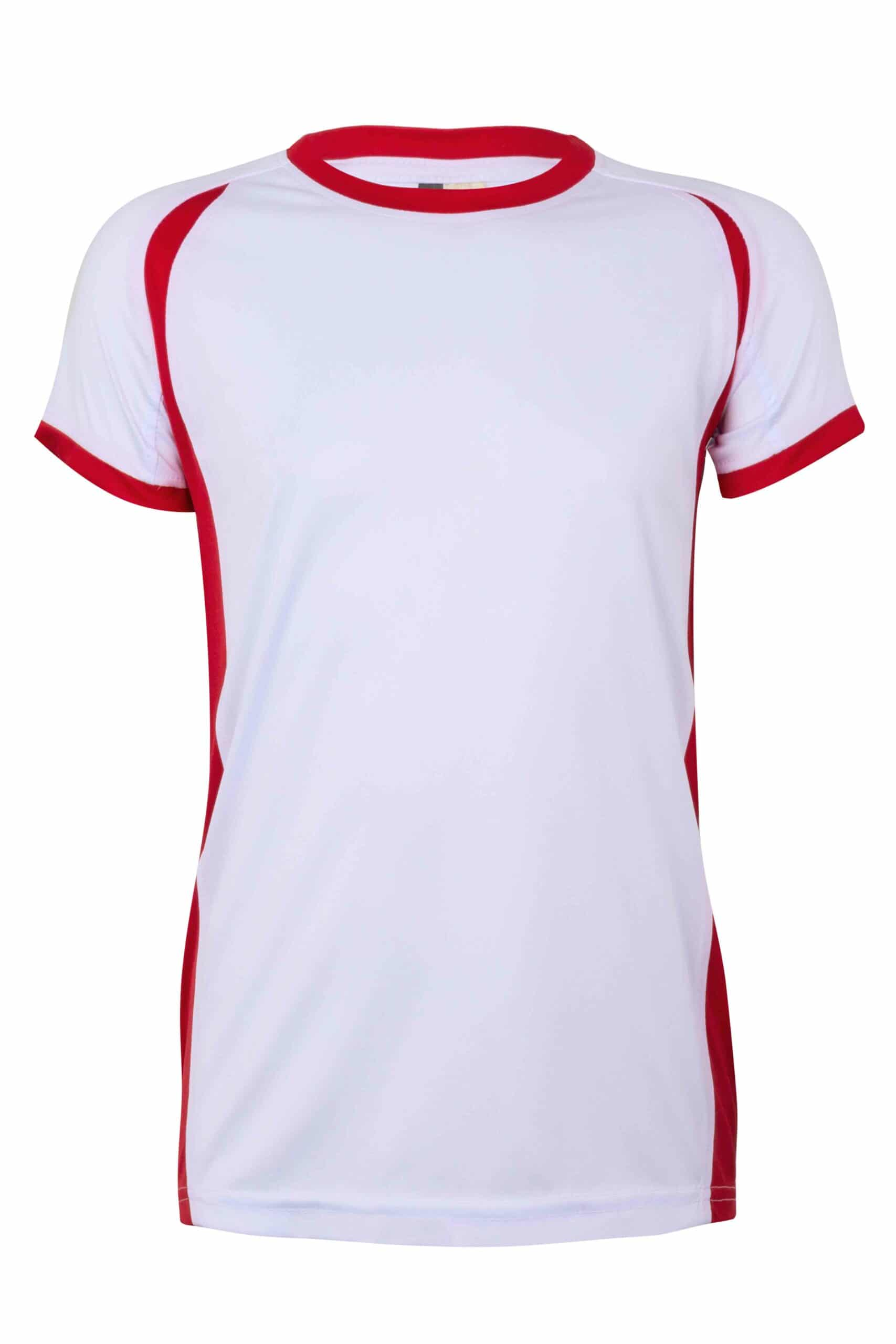 Mukua Mk531v Camiseta TÉcnica Manga Corta Bicolor NiÑo White Red 1