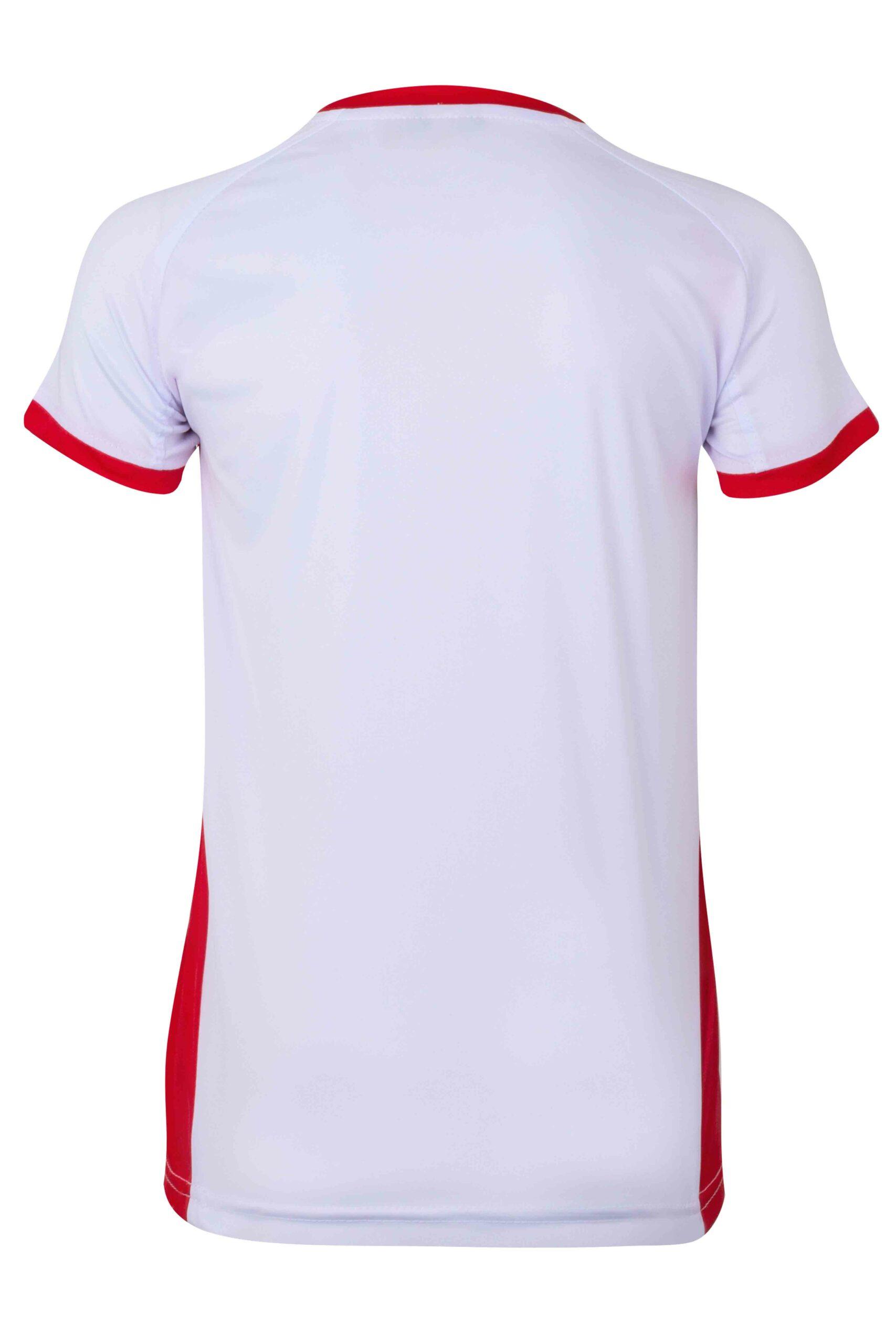 Mukua Mk531v Camiseta TÉcnica Manga Corta Bicolor NiÑo White Red 2