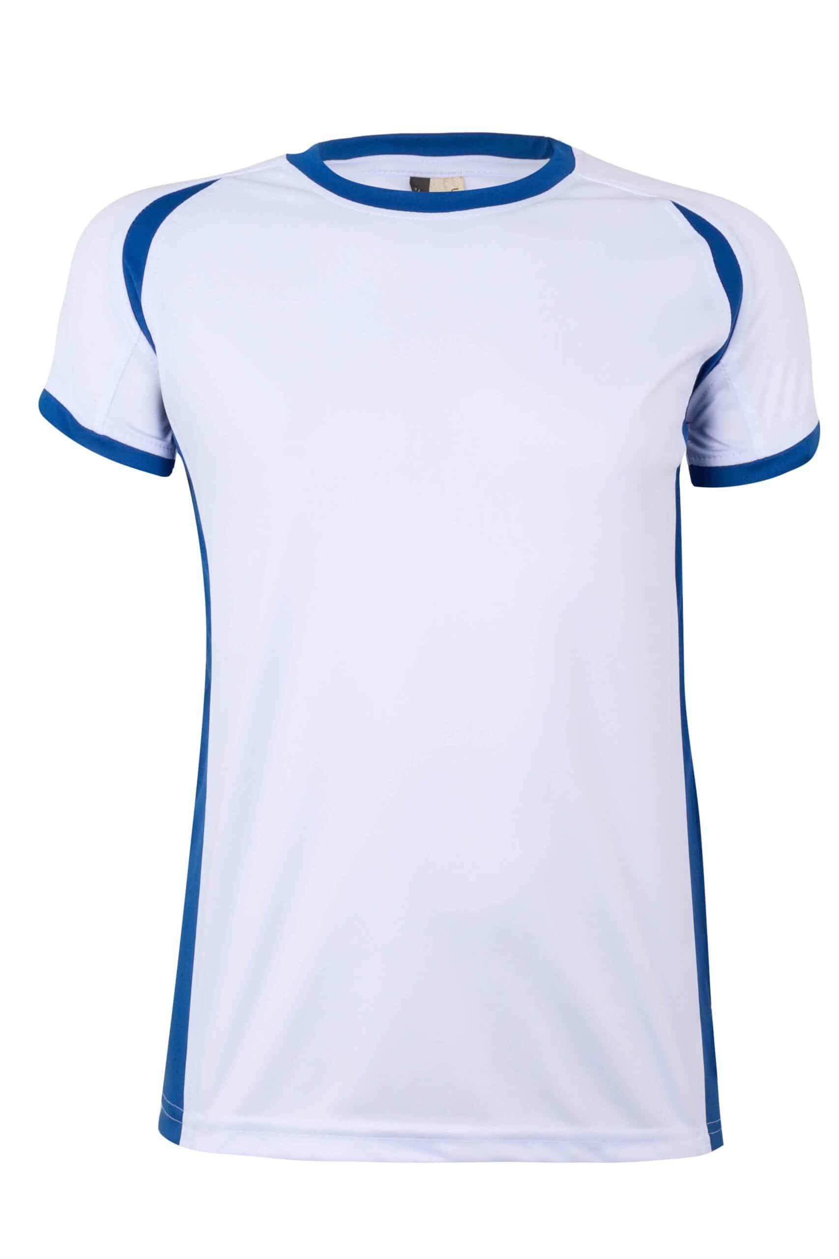 Mukua Mk531v Camiseta TÉcnica Manga Corta Bicolor NiÑo White Royal Blue 1
