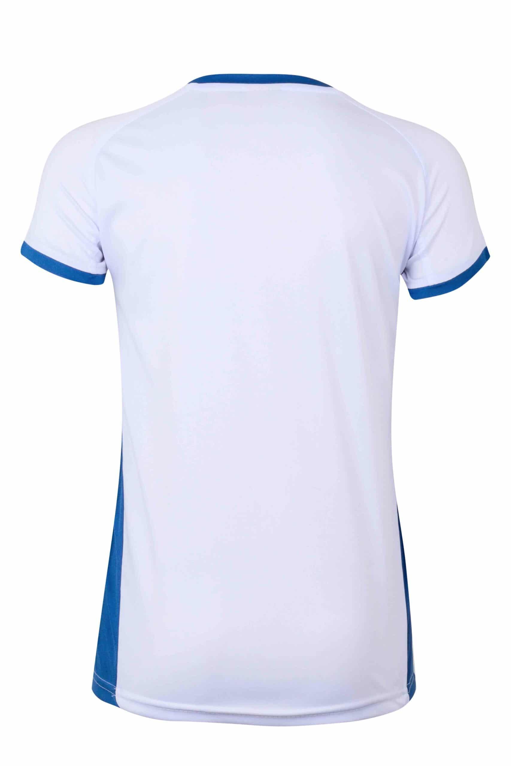 Mukua Mk531v Camiseta TÉcnica Manga Corta Bicolor NiÑo White Royal Blue 2