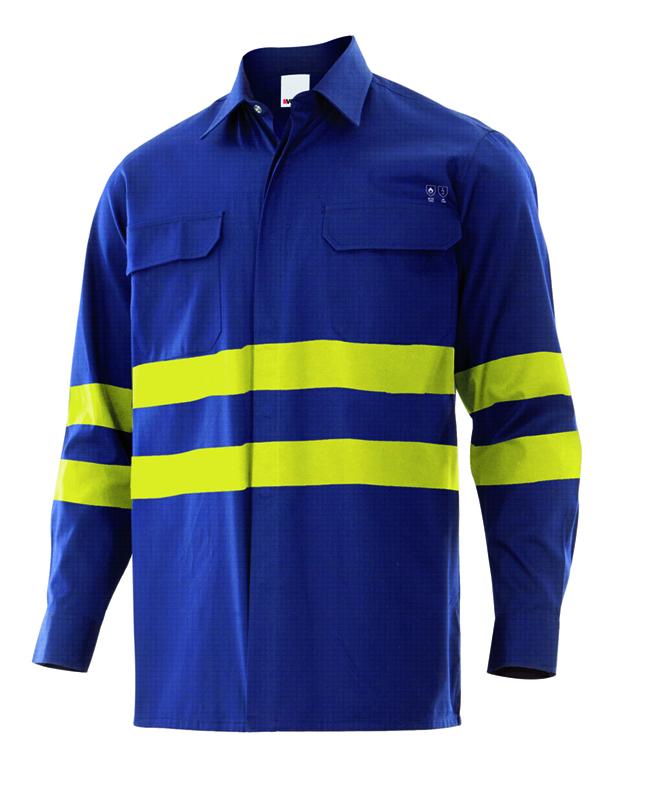 Velilla 605002 Camisa Ignifuga Alta Visibilidad Azul Navy